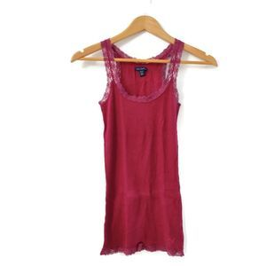 American Eagle Maroon lace tank top Size XS